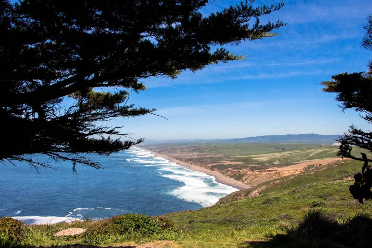 Point Reyes National Seashore med den smukke kystlinje - Californien, USA