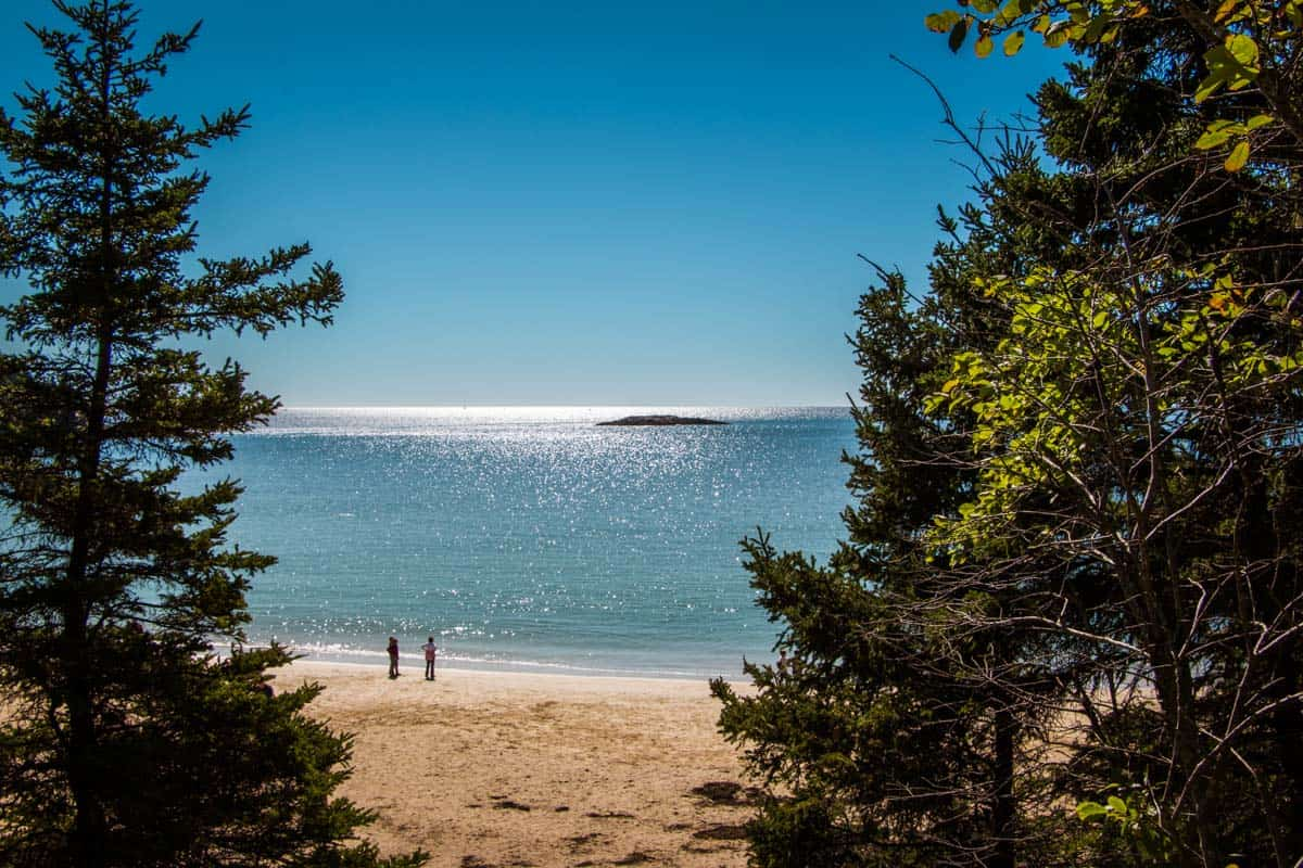 Acadia National Park den eneste nationalpark i New England – Maine, USA