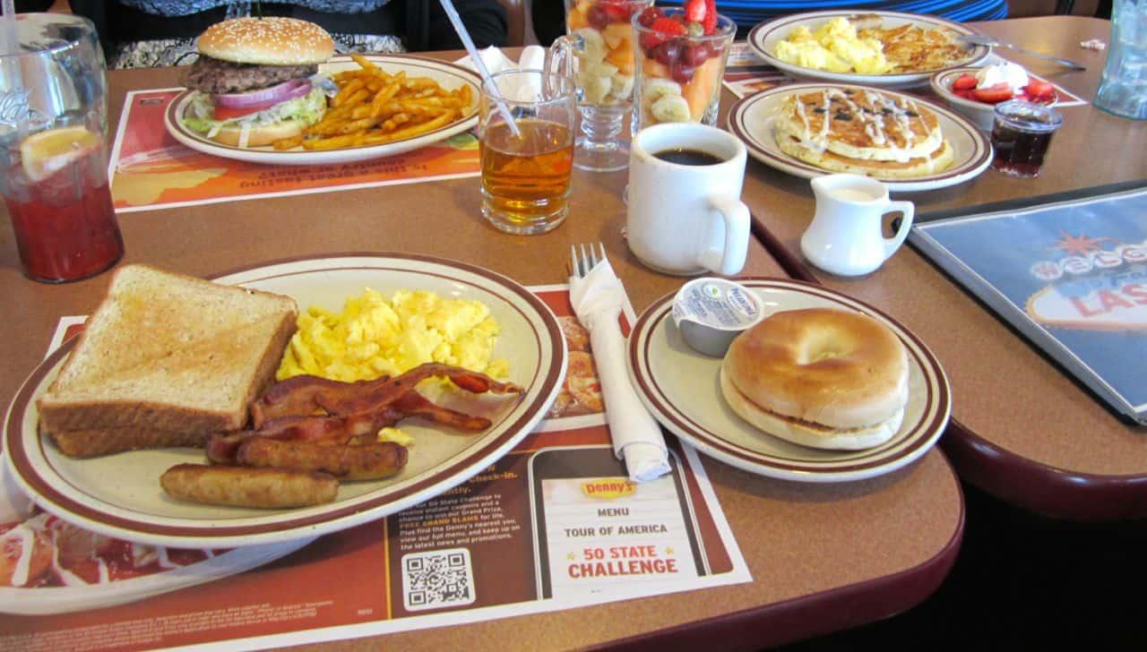 Morgenmad på Dennys - Las Vegas, USA