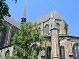 Den smukke gotiske Marienkirche – Rostock, Tyskland