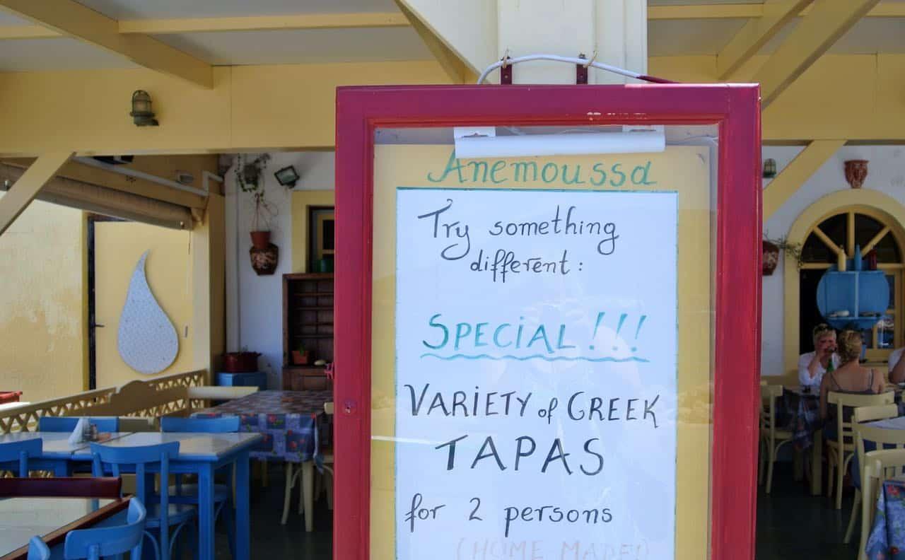 Græsk tapas på Karpathos - Grækenland