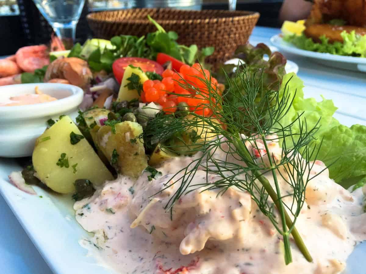 Middag på Jennners Seaside – Mosede Havn ved Greve, Danmark