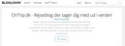 OnTrip.dk - Bloglovin Top