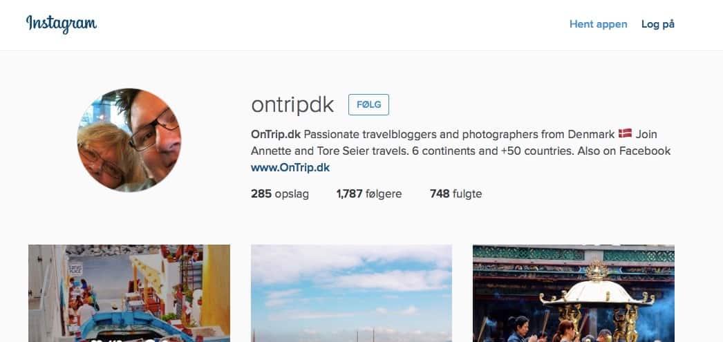 OnTrip.dk - Instagram Top