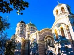 Smukke bygninger i Riga-Letland