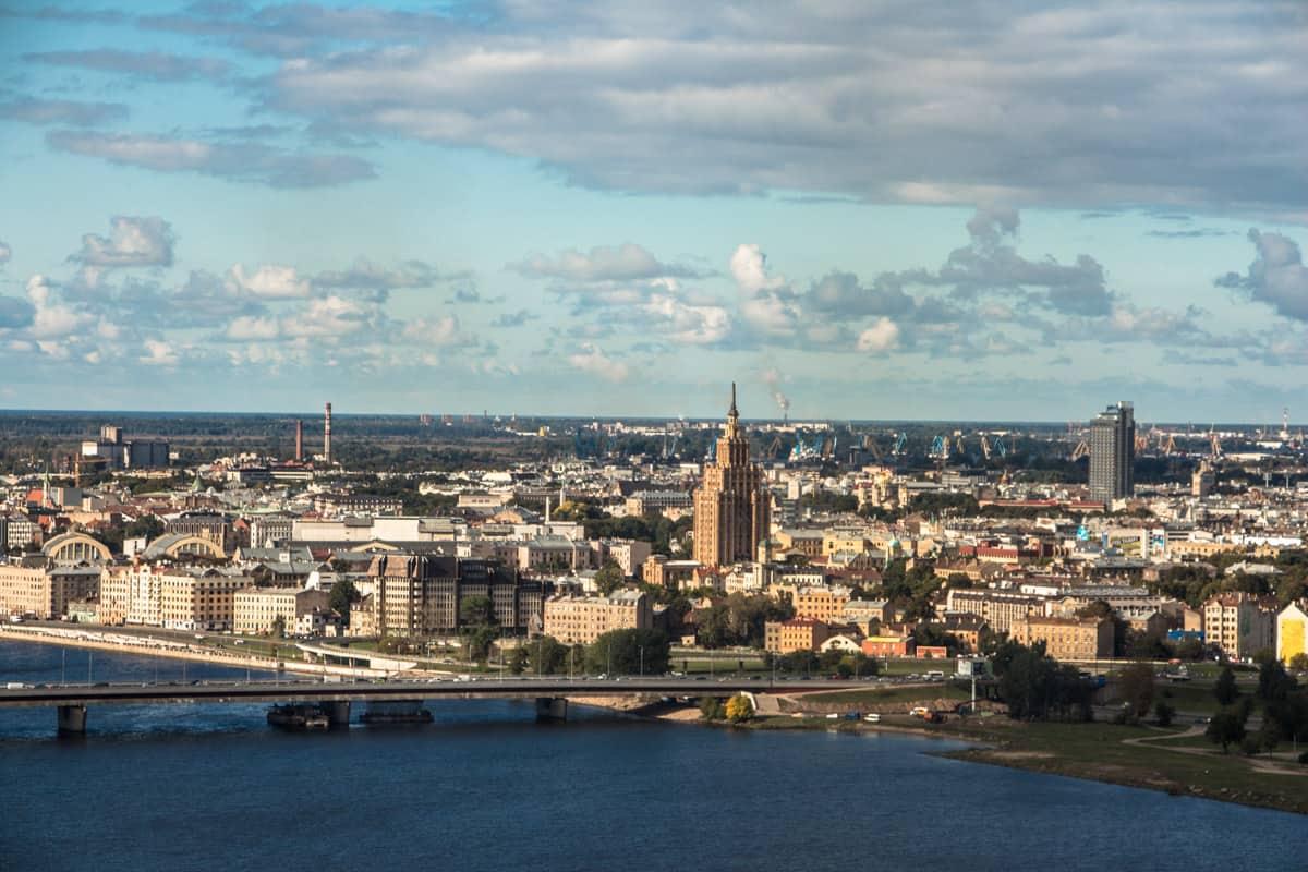 Riga set fra oven - Riga, Letland