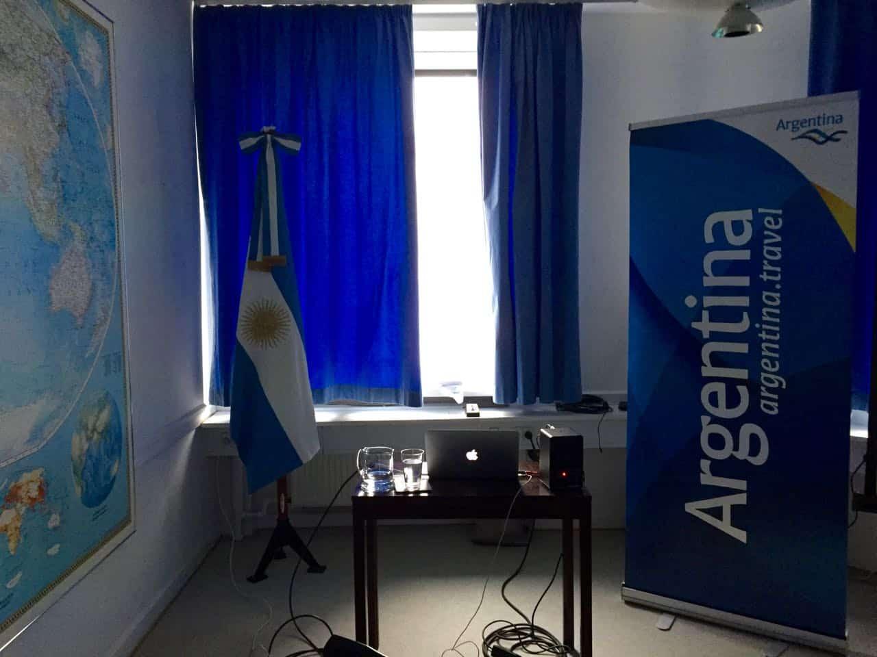 Invitation til Argentinas ambassade