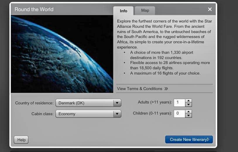 Flybillet til Jorden rundt