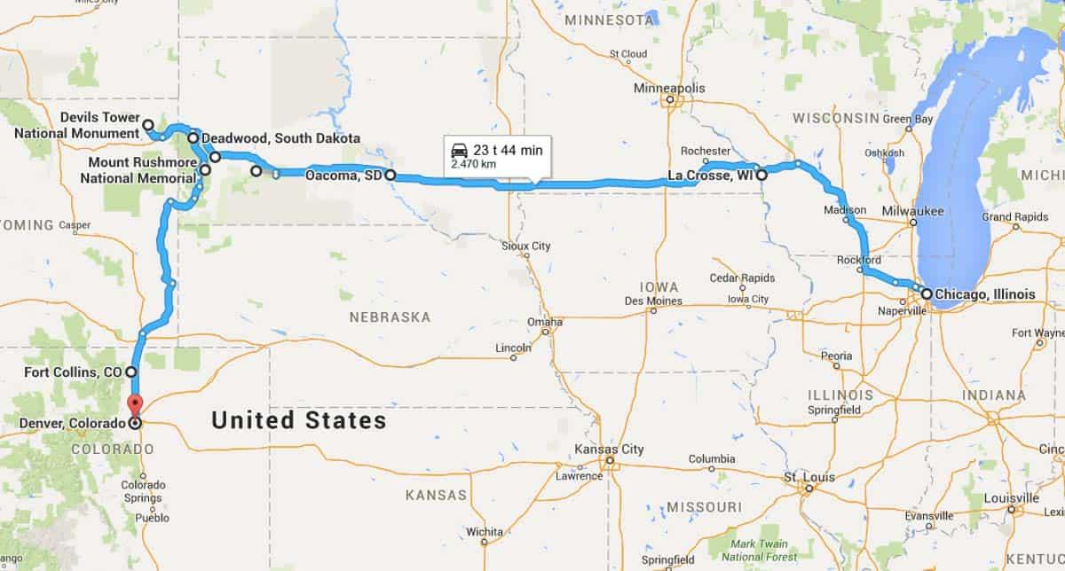 Road Trip Fra Chicago Til Denver Usa Ontrip Dk