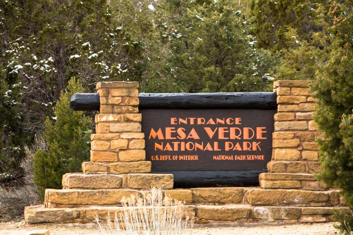 Mesa Verde National Park med de gamle indianske klippehuler – Colorado, USA
