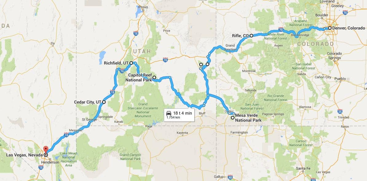 2016.06 Road Trip fra Denver til Las Vegas, USA