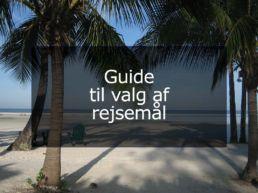 Guide til valg af rejsemål
