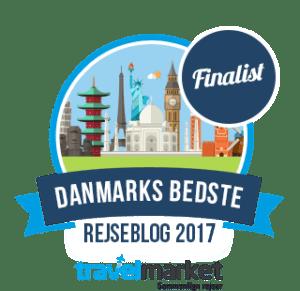 Danmarks bedste rejseblog - finalist 2017