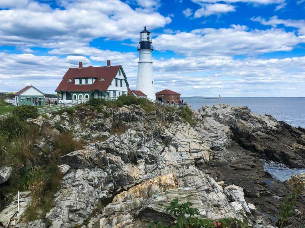 Portland Head Light ældste fyrtårn i Maine – USA