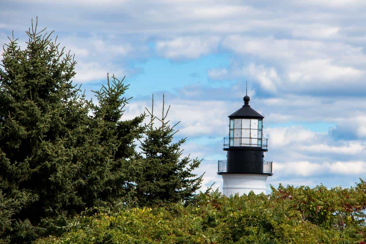 Portland Head Light ældste fyrtårn i Maine – USA