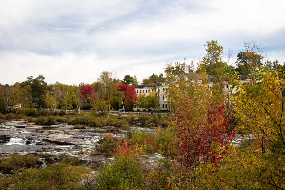 Littleton byen med verdens længste slikreol - New Hampshire, USA