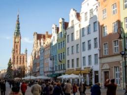 Gdansk en by med smuk arkitektur ved Østersøen