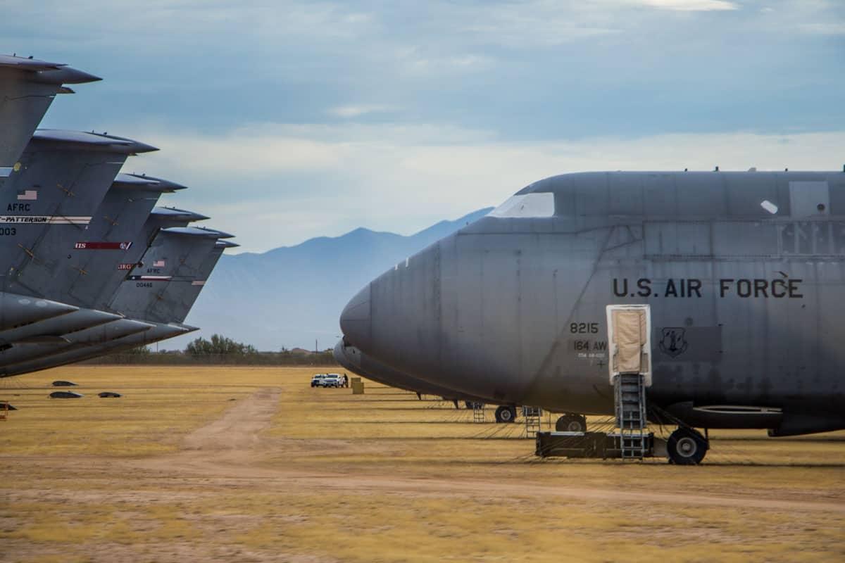 The Boneyard er verdens største flykirkegård Tucson USA