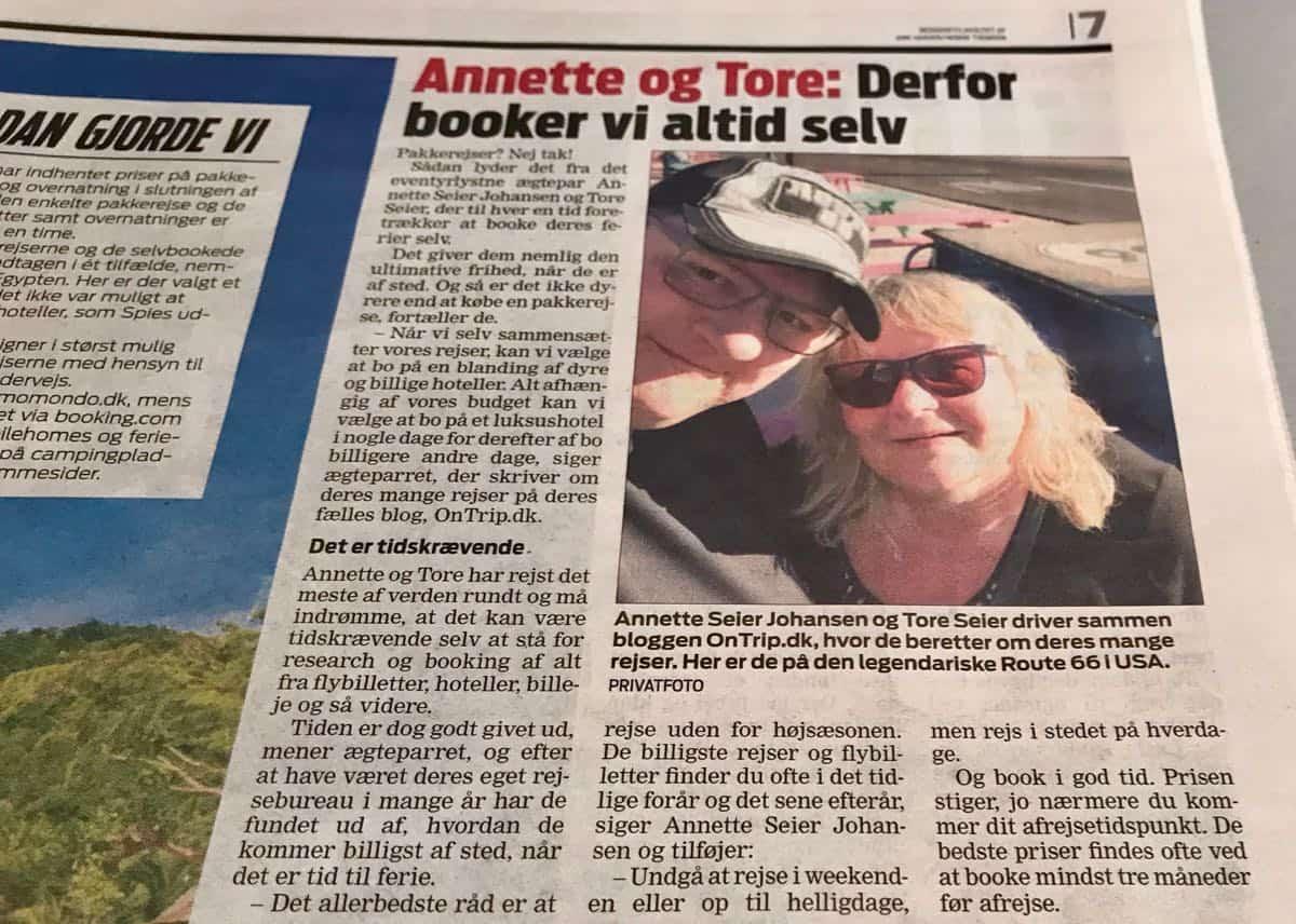 OnTrip.dk har igen været i pressen, denne gang Ekstra Bladet