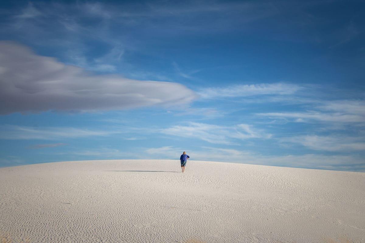 Dansk Rejseblog White Sands med de enorme sandklitter - New Mexico, USA