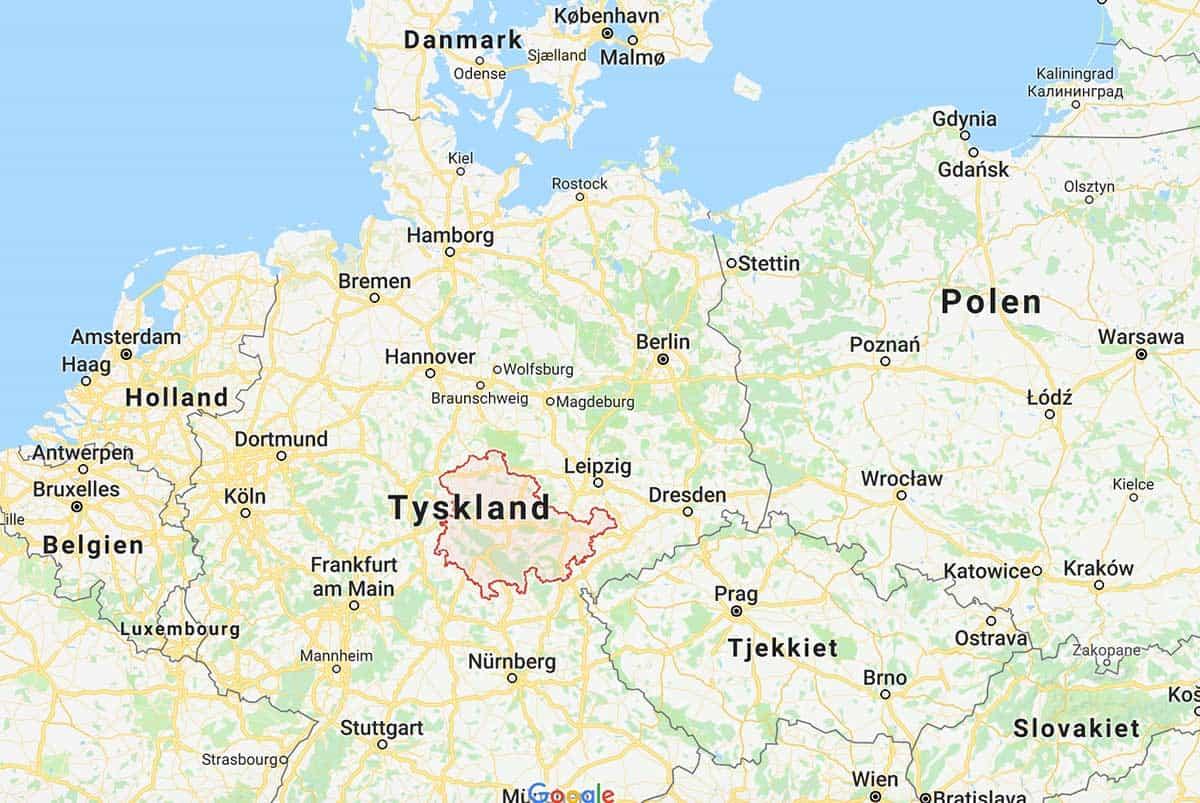 Turen går til Thüringen – Tyskland