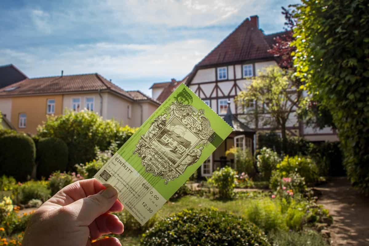 Komponisten Johann Sebastian Bach fødeby, Eisenach - Tyskland