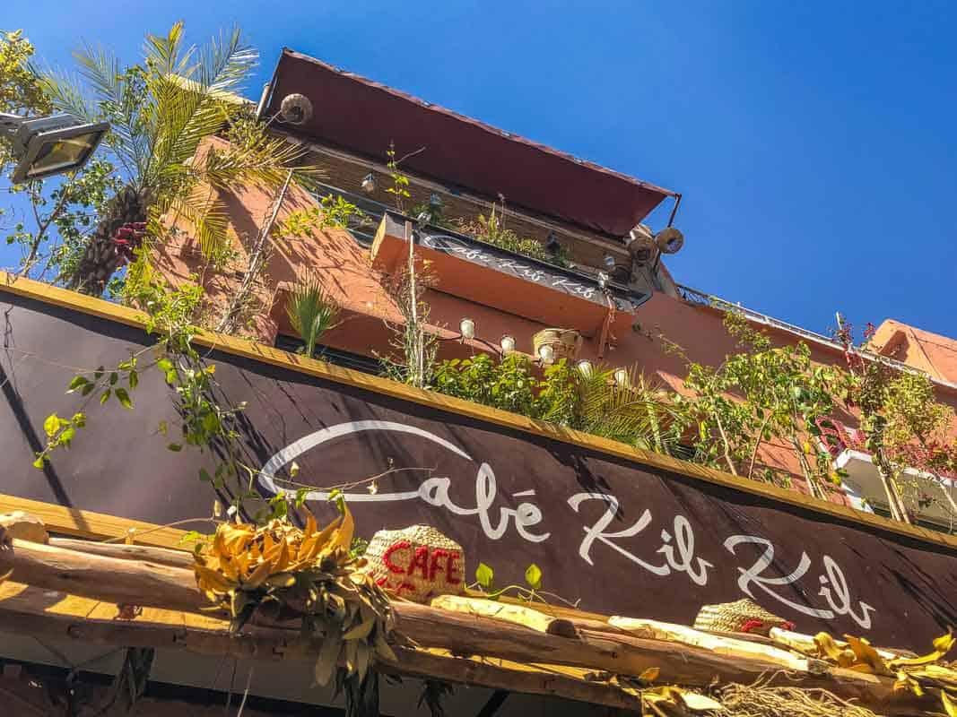 Anmeldelse af Cafe Kif Kif - Marrakech, Marokko