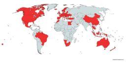 Lande vi har besøgt - verdenskort
