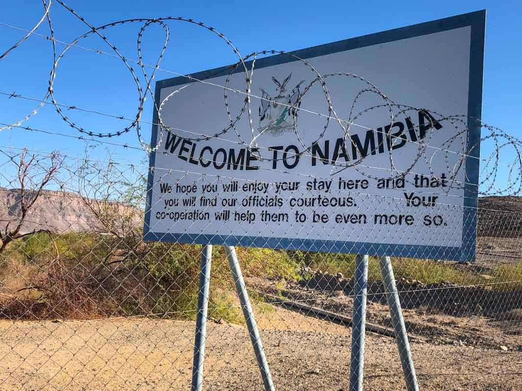 Grænsen mellem Sydafrika og Namibia