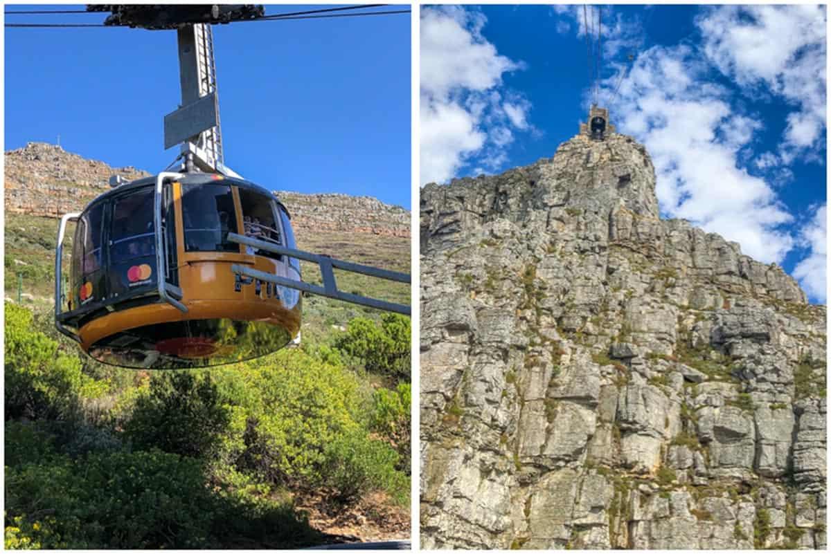 Taffelbjerget med den flade top - Cape Town, Sydafrika