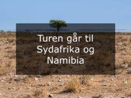 Turen går til Sydafrika og Namibia