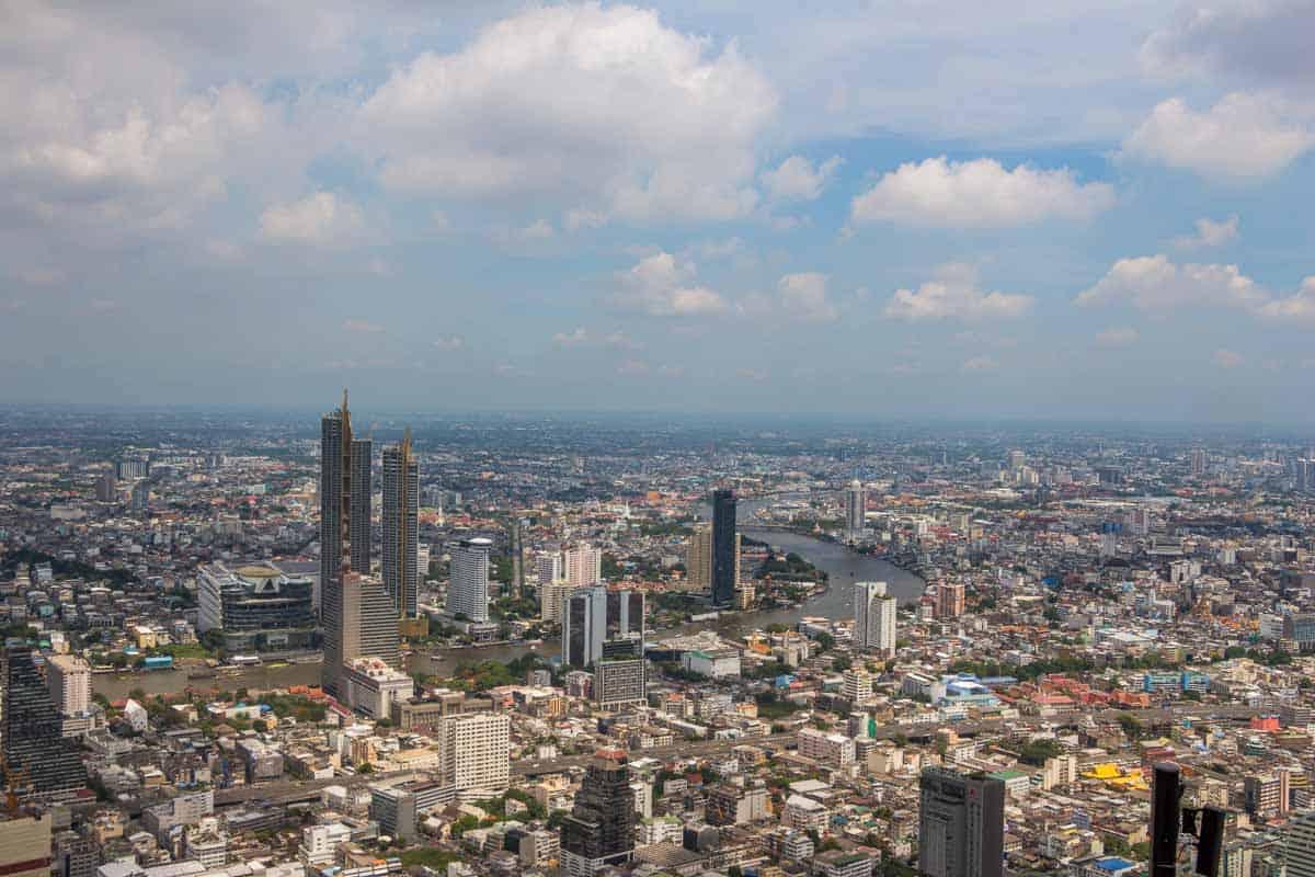 Skywalk i skyskraberen Mahanakhon – Bangkok, Thailand
