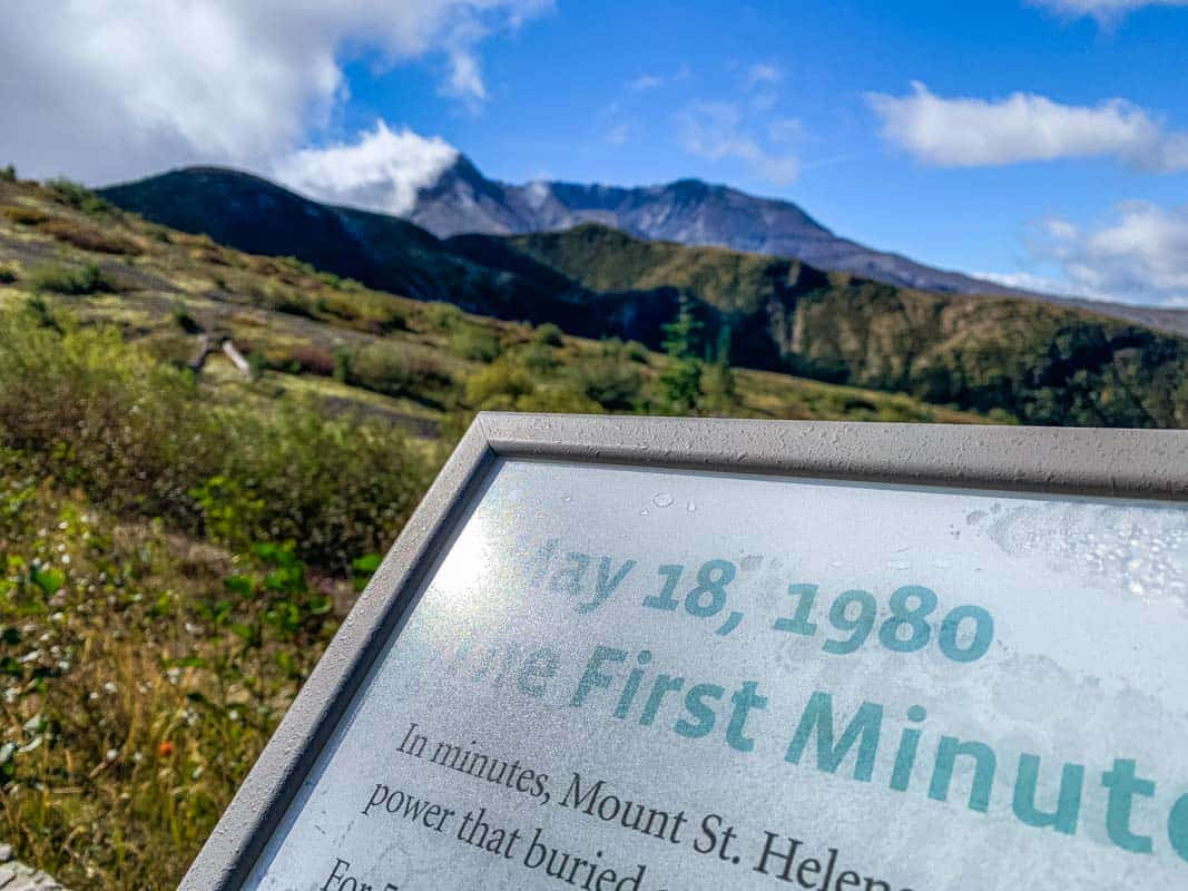 Den aktive vulkan Mount St. Helens – Washington, USA