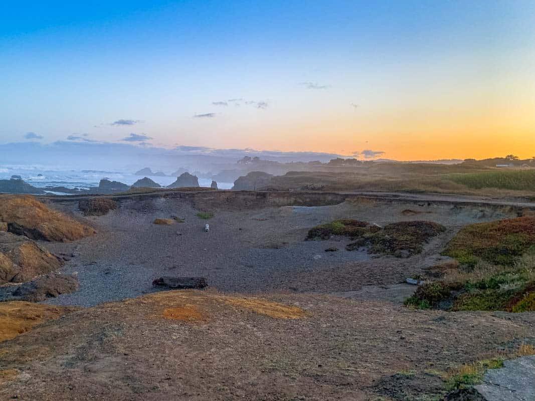 Glas-stranden i MacKerricher State Park- USA