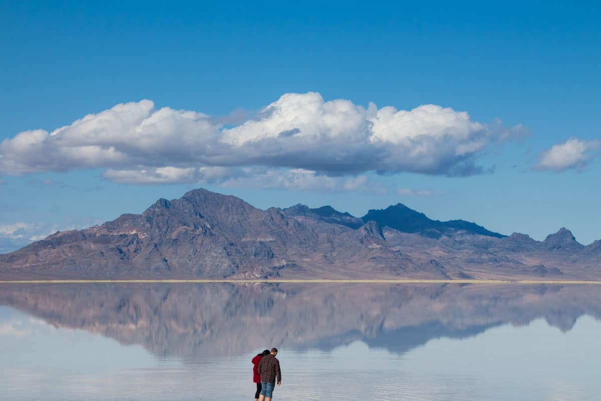 Den kridhvide Bonneville-saltslette – Utah, USA