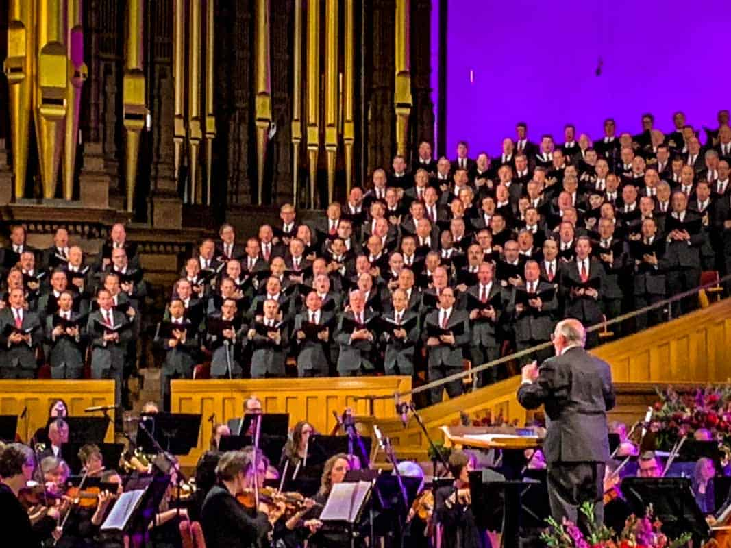 Koncert med mormonernes Tabernakelkor – Salt Lake City, USA