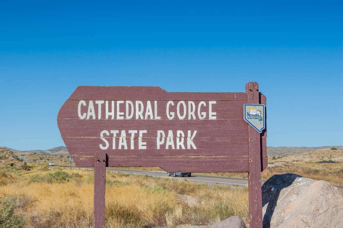 Dramatiske Cathedral Gorge State Park - Nevada, USA
