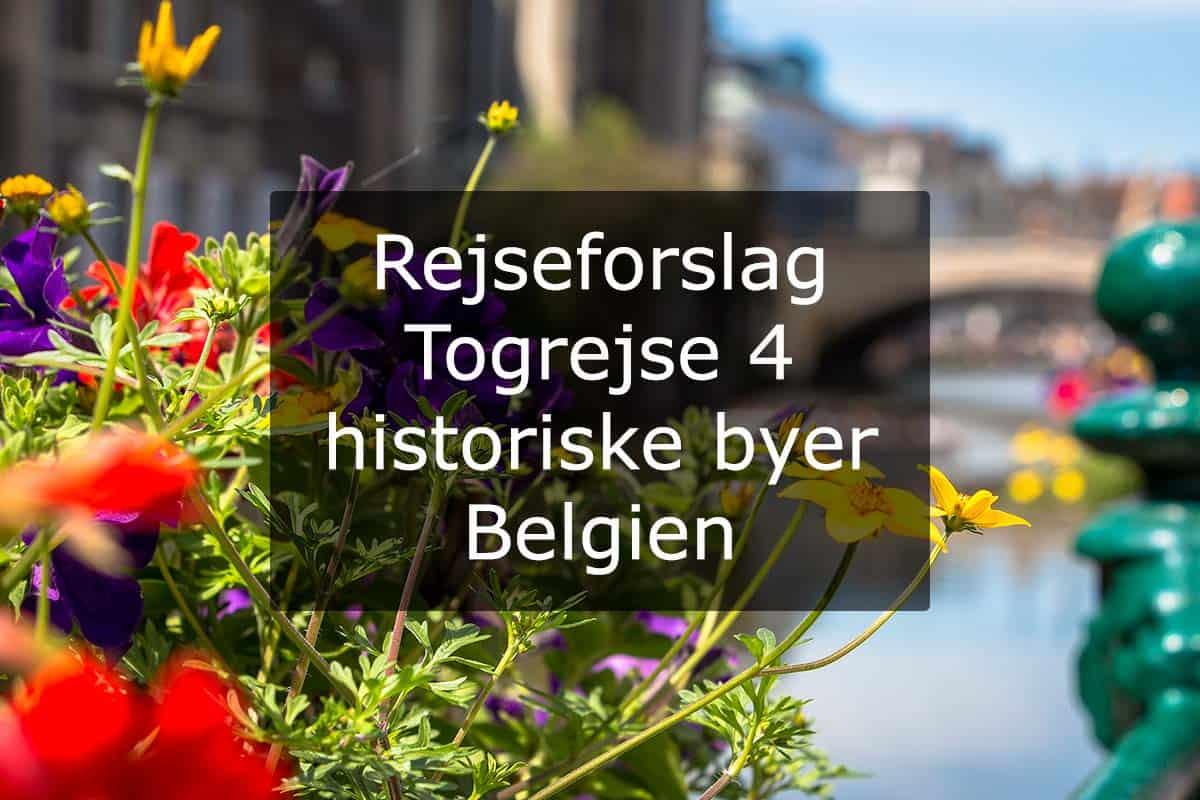 Rejseforslag Togrejse 4 historiske byer - Belgien