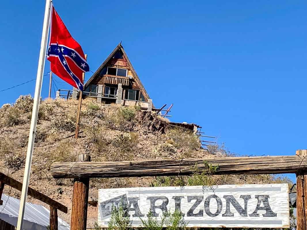 Spøgelsesbyen Oatman med alle æslerne – Arizona, USA