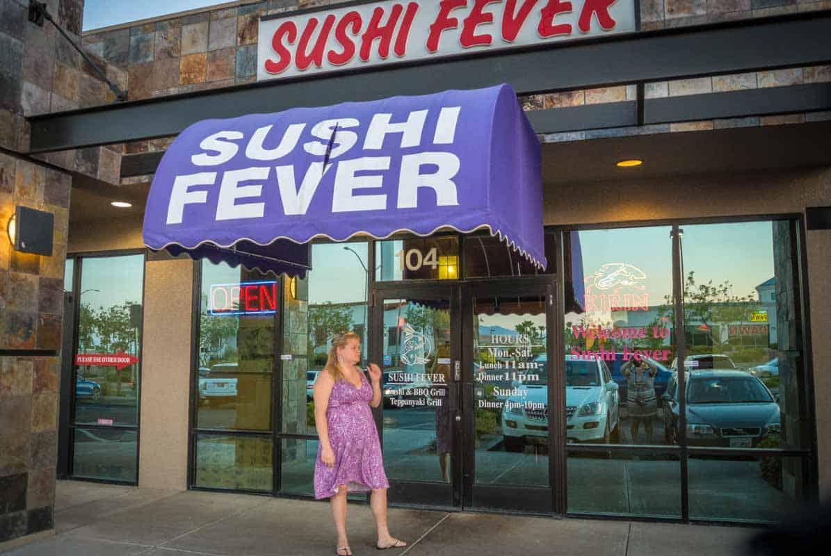 Anmeldelse af Sushi Fever - Las Vegas, USA
