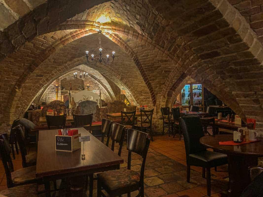 En middag på tre restauranter - Rostock, Tyskland