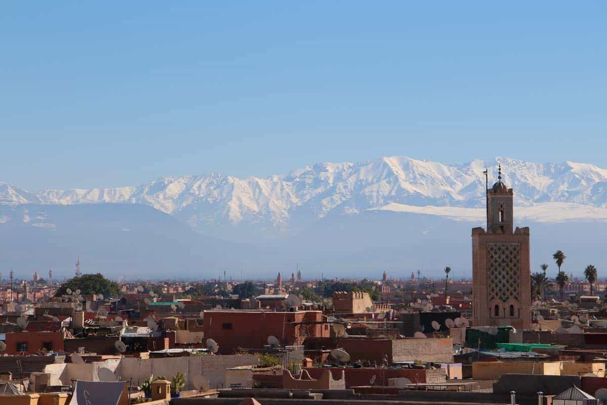 Fire tagterrasser på 24 timer - Marrakech, Marokko
