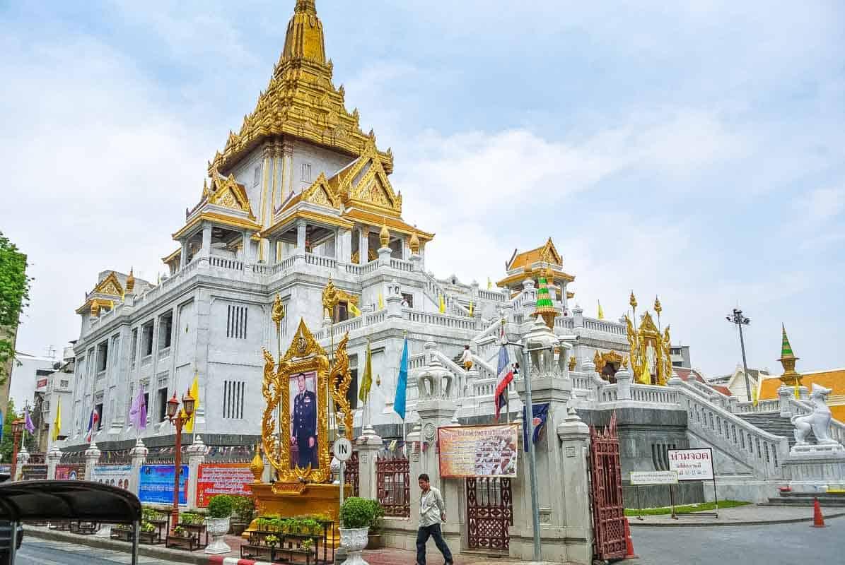 Wat Traimit templet med den største guld Buddha - Bangkok, Thailand