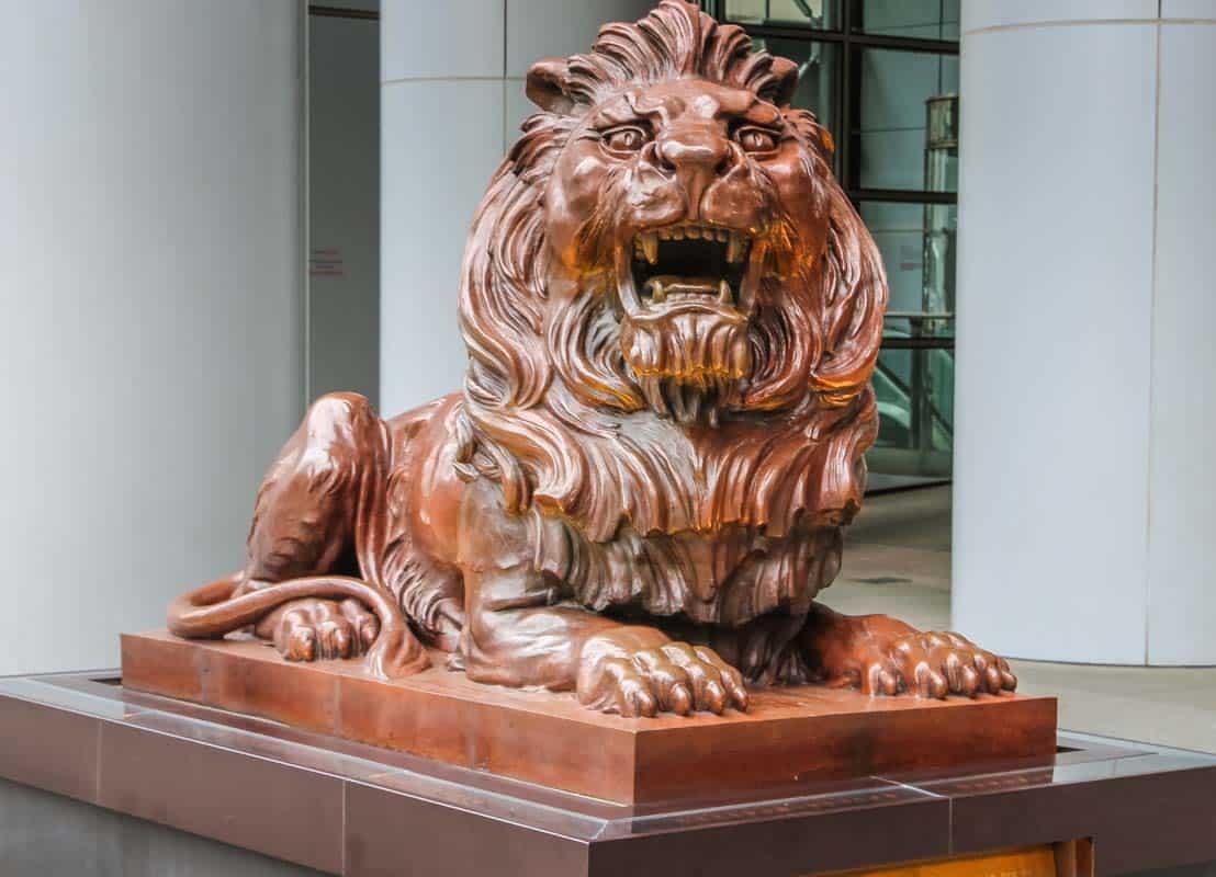 HSBC banken er unikt byggeri - Hong Kong