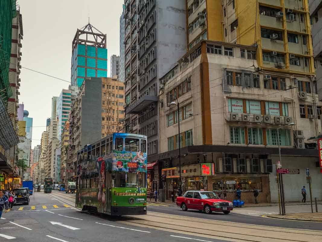 Rejsetanker om Hong Kong