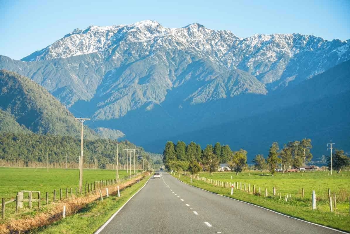 Road Trip - Franz Josef Glacier til Queenstown, New Zealand