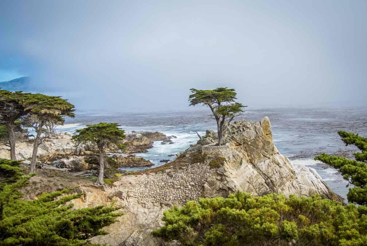17 miles drive i det eksklusive område - Californien, USA
