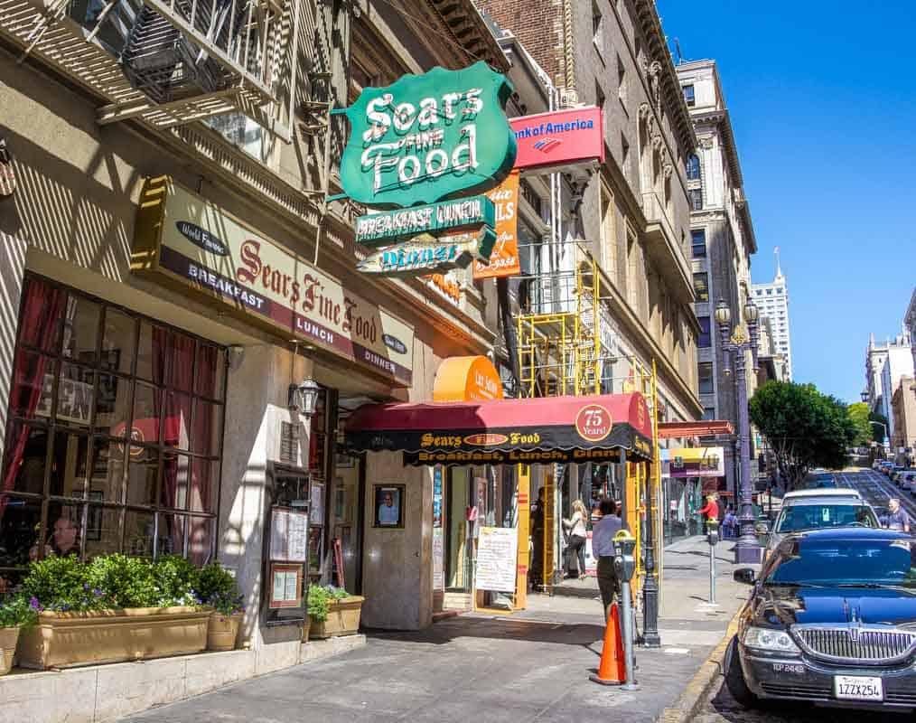 Anmeldelse af Sears Fine Food - San Francisco, USA