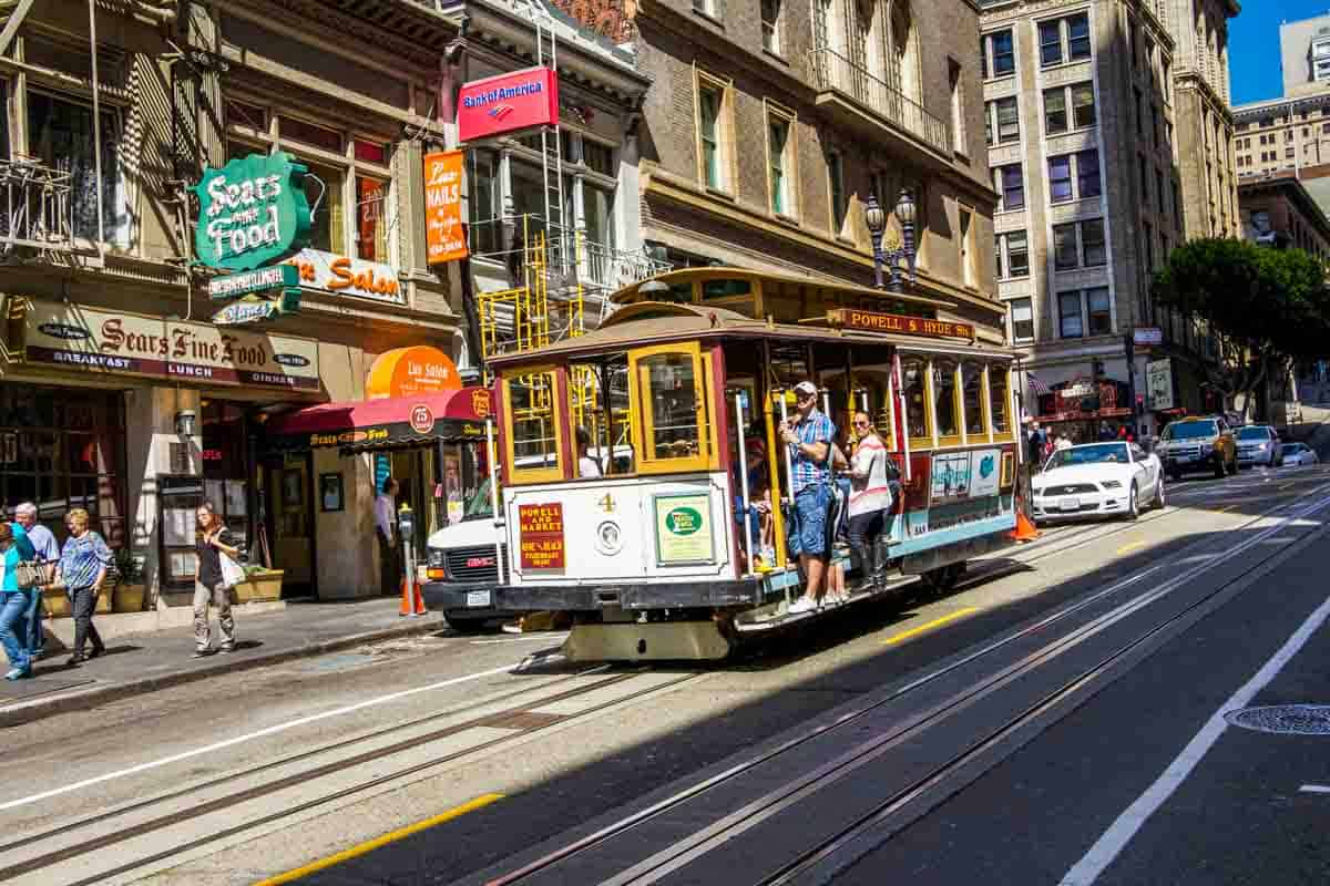 Cable Cars de historiske vogne - San Francisco, USA