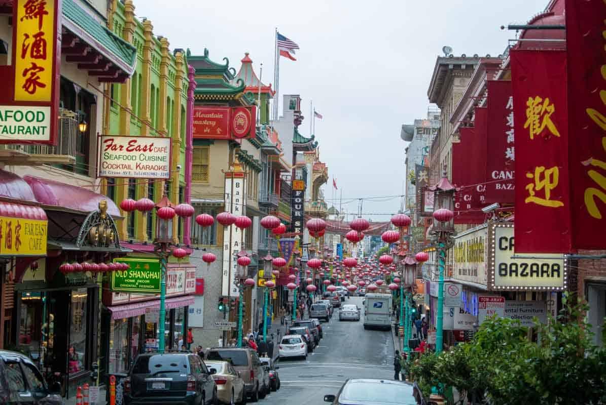 Chinatown en arkitektonisk oplevelse - San Francisco, USA